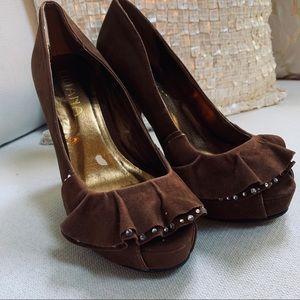 Liliana Peep toe hidden Platform heels NEW NO BOX
